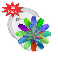 Chromatic Flower Variation Star Rainbow 2 25  Buttons (100 Pack)  by Alisyart