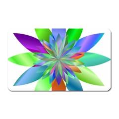 Chromatic Flower Variation Star Rainbow Magnet (rectangular) by Alisyart