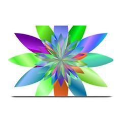 Chromatic Flower Variation Star Rainbow Plate Mats by Alisyart
