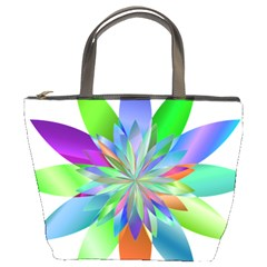 Chromatic Flower Variation Star Rainbow Bucket Bags by Alisyart
