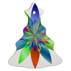 Chromatic Flower Variation Star Rainbow Ornament (christmas Tree)  by Alisyart