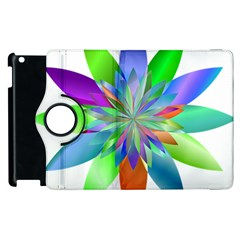 Chromatic Flower Variation Star Rainbow Apple Ipad 2 Flip 360 Case by Alisyart