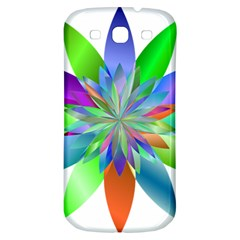 Chromatic Flower Variation Star Rainbow Samsung Galaxy S3 S Iii Classic Hardshell Back Case by Alisyart