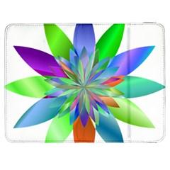 Chromatic Flower Variation Star Rainbow Samsung Galaxy Tab 7  P1000 Flip Case by Alisyart