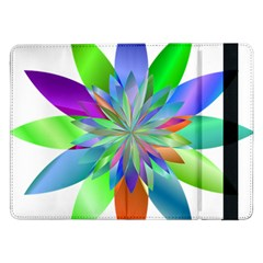 Chromatic Flower Variation Star Rainbow Samsung Galaxy Tab Pro 12 2  Flip Case by Alisyart