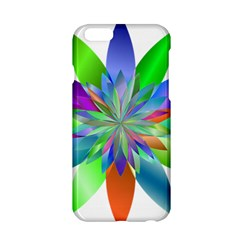 Chromatic Flower Variation Star Rainbow Apple Iphone 6/6s Hardshell Case by Alisyart