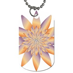 Chromatic Flower Gold Star Floral Dog Tag (one Side) by Alisyart