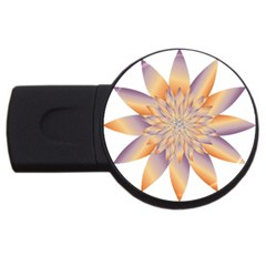 Chromatic Flower Gold Star Floral Usb Flash Drive Round (4 Gb) by Alisyart