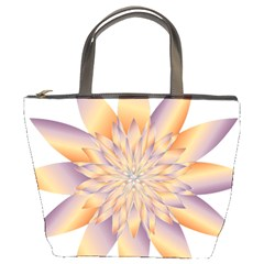 Chromatic Flower Gold Star Floral Bucket Bags by Alisyart