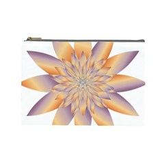 Chromatic Flower Gold Star Floral Cosmetic Bag (large)  by Alisyart