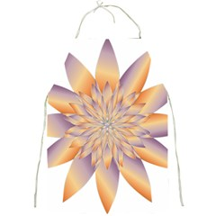 Chromatic Flower Gold Star Floral Full Print Aprons by Alisyart