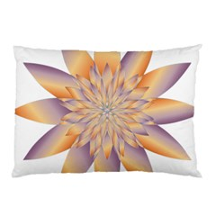 Chromatic Flower Gold Star Floral Pillow Case (two Sides)