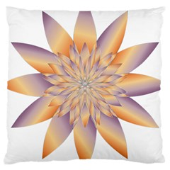 Chromatic Flower Gold Star Floral Large Cushion Case (two Sides) by Alisyart
