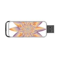 Chromatic Flower Gold Star Floral Portable Usb Flash (two Sides) by Alisyart