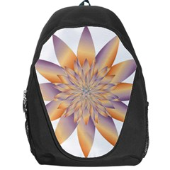 Chromatic Flower Gold Star Floral Backpack Bag by Alisyart