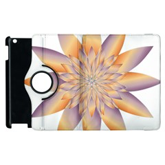 Chromatic Flower Gold Star Floral Apple Ipad 2 Flip 360 Case by Alisyart