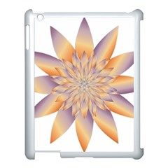 Chromatic Flower Gold Star Floral Apple Ipad 3/4 Case (white) by Alisyart