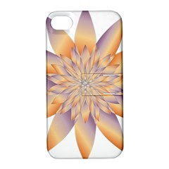Chromatic Flower Gold Star Floral Apple Iphone 4/4s Hardshell Case With Stand by Alisyart