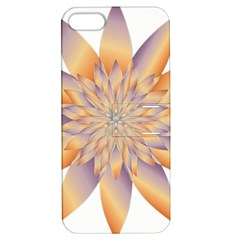Chromatic Flower Gold Star Floral Apple Iphone 5 Hardshell Case With Stand by Alisyart