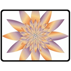 Chromatic Flower Gold Star Floral Double Sided Fleece Blanket (large)  by Alisyart
