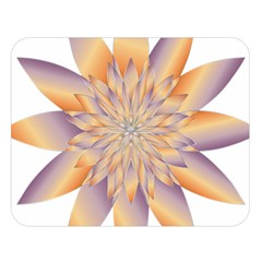 Chromatic Flower Gold Star Floral Double Sided Flano Blanket (large)  by Alisyart