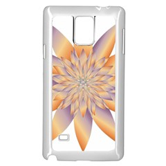 Chromatic Flower Gold Star Floral Samsung Galaxy Note 4 Case (white) by Alisyart