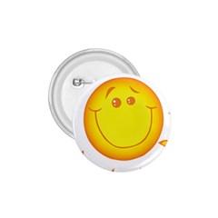 Domain Cartoon Smiling Sun Sunlight Orange Emoji 1 75  Buttons by Alisyart