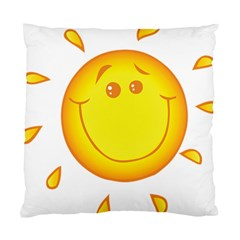Domain Cartoon Smiling Sun Sunlight Orange Emoji Standard Cushion Case (one Side) by Alisyart