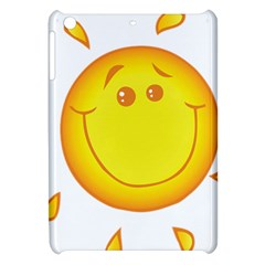 Domain Cartoon Smiling Sun Sunlight Orange Emoji Apple Ipad Mini Hardshell Case by Alisyart