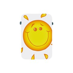 Domain Cartoon Smiling Sun Sunlight Orange Emoji Apple Ipad Mini Protective Soft Cases by Alisyart
