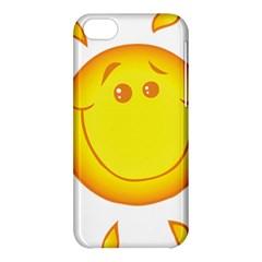 Domain Cartoon Smiling Sun Sunlight Orange Emoji Apple Iphone 5c Hardshell Case by Alisyart