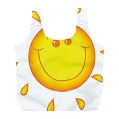 Domain Cartoon Smiling Sun Sunlight Orange Emoji Full Print Recycle Bags (l)  by Alisyart