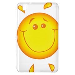 Domain Cartoon Smiling Sun Sunlight Orange Emoji Samsung Galaxy Tab Pro 8 4 Hardshell Case by Alisyart
