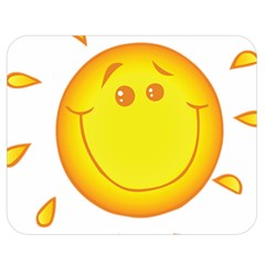 Domain Cartoon Smiling Sun Sunlight Orange Emoji Double Sided Flano Blanket (medium)  by Alisyart