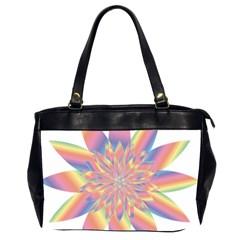 Chromatic Flower Gold Rainbow Star Office Handbags (2 Sides)  by Alisyart