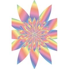 Chromatic Flower Gold Rainbow Star 5 5  X 8 5  Notebooks by Alisyart
