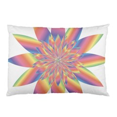 Chromatic Flower Gold Rainbow Star Pillow Case (two Sides) by Alisyart