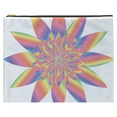 Chromatic Flower Gold Rainbow Star Cosmetic Bag (xxxl)  by Alisyart