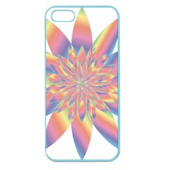 Chromatic Flower Gold Rainbow Star Apple Seamless Iphone 5 Case (color) by Alisyart