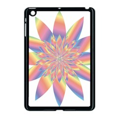 Chromatic Flower Gold Rainbow Star Apple Ipad Mini Case (black) by Alisyart