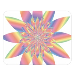 Chromatic Flower Gold Rainbow Star Double Sided Flano Blanket (large)  by Alisyart