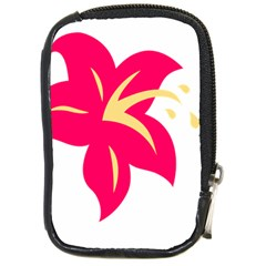 Flower Floral Lily Blossom Red Yellow Compact Camera Cases by Alisyart