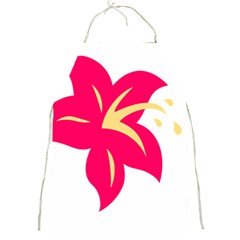 Flower Floral Lily Blossom Red Yellow Full Print Aprons by Alisyart