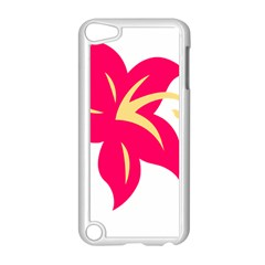 Flower Floral Lily Blossom Red Yellow Apple Ipod Touch 5 Case (white) by Alisyart