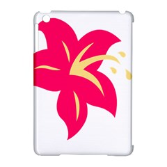 Flower Floral Lily Blossom Red Yellow Apple Ipad Mini Hardshell Case (compatible With Smart Cover) by Alisyart