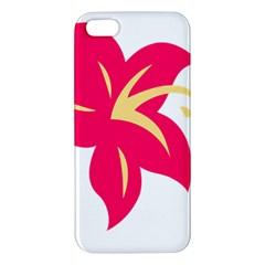 Flower Floral Lily Blossom Red Yellow Iphone 5s/ Se Premium Hardshell Case by Alisyart