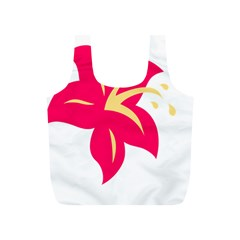 Flower Floral Lily Blossom Red Yellow Full Print Recycle Bags (s)  by Alisyart