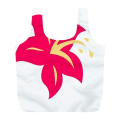 Flower Floral Lily Blossom Red Yellow Full Print Recycle Bags (l)  by Alisyart
