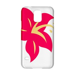 Flower Floral Lily Blossom Red Yellow Samsung Galaxy S5 Hardshell Case  by Alisyart
