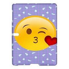 Face Smile Orange Red Heart Emoji Samsung Galaxy Tab S (10 5 ) Hardshell Case  by Alisyart